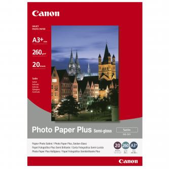 Canon 1686B032 - saténový, pololesklý, bílý fotopapír pro inkoustové tiskárny A3+, 330x480mm (A3+), 260 g/m2, 20 ks