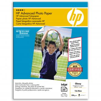 HP Photo Paper Glossy Advanced, 25 ks, 130 x 180 mm, 250 g/m2, Q8696A