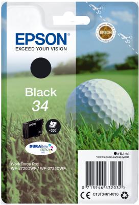 Epson C13T34614010 - originální černý inkoust DURABrite Ultra
