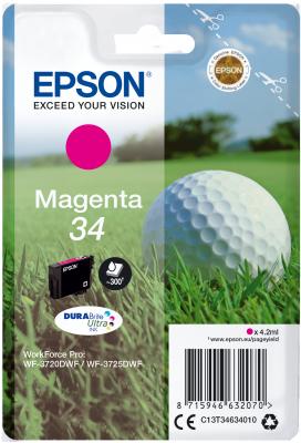 Epson C13T34634010 - originální purpurový inkoust DURABrite Ultra