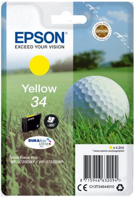 Epson C13T34644010 - originální žlutý inkoust DURABrite Ultra