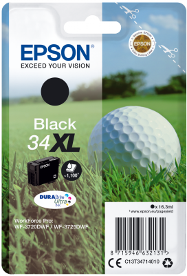 Epson C13T34714010 - originální černý inkoust, XL