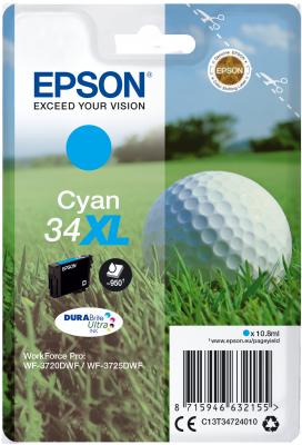 Epson C13T34724010 - originální azurový inkoust, XL