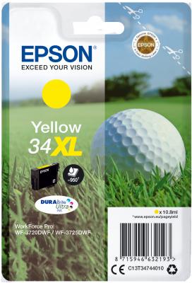 Epson C13T34744010 - originální žlutý inkoust, XL