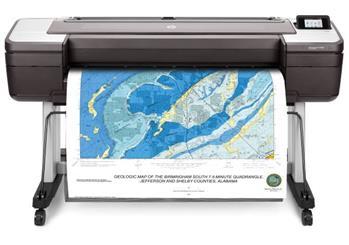 HP DesignJet T1700dr 44-in PostScript Printer