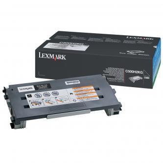 Toner Lexmark C500H2KG, černý (black), 5000str., return, Lexmark C500, X500