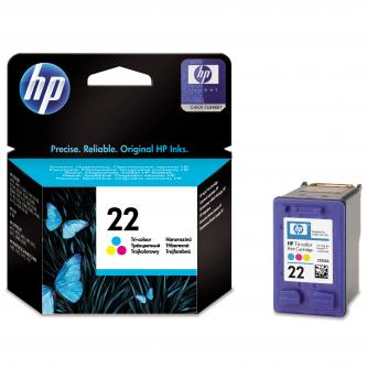 HP originální ink C9352AE, No.22, color, 138str., 5ml, HP PSC-1410, DeskJet F380, D2300, OJ-4300,