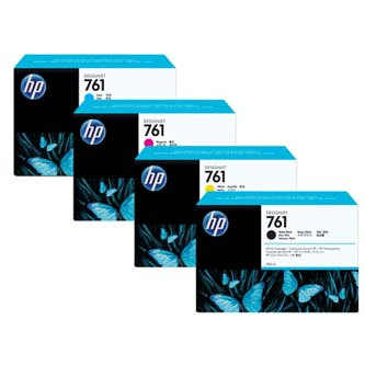 HP 761 - 3-pack - 3 ink cartridges Cyan Ink Cartridge, 400 ml, CR272A