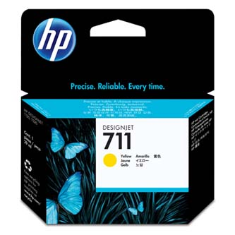 HP 711 29-ml Yellow Ink Cartridge, CZ132A