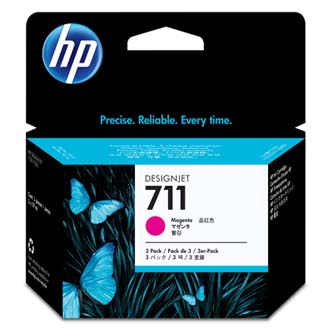 HP 711 3-pack 29-ml Magenta Ink Cartridges, CZ135A