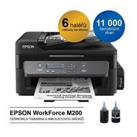 Epson WorkForce M200 - černobílá multifunkční tiskárna A4, 34 ppm, ITS