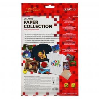 Logo 15021 - Zažehlovací papír, pro tmavá trička, bílý, A4, 5 listů, pro inkoustové tiskárny, L