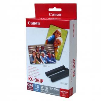 Canon, papír, bílý, 86x54mm, 36 ks, pro termosublimační tiskárny CP-220/330