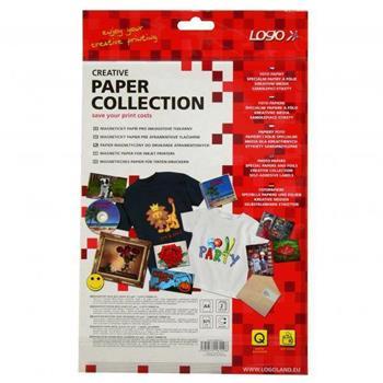 Logo 16149 - magnetický papír, PRO, bílý, A4, 871 g/m2, 1440dpi, 2 listy, pro inkoustové tiskárny, L