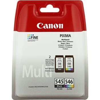 Canon PG-545 + CL-546 - originální ink PG-545/CL-546, black/colour, 2×180str., 2×8ml, 8287B005,