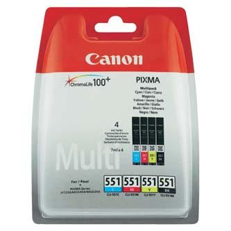 Canon CLI-551CMYK - originální ink 6509B009, CLI551, CMYK, Canon PIXMA iP7250, MG5450, MG6350