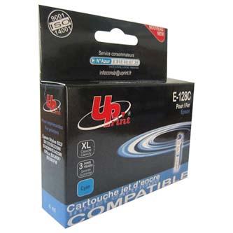 UPrint kompatibilní ink s C13T12824011, cyan, 4ml, E-128C, pro Epson Stylus S22, SX125, 420W, 425W, Stylus Office BX305