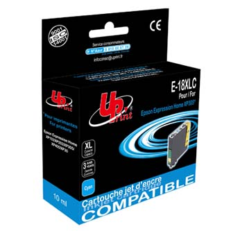 UPrint kompatibilní ink s C13T18124010, 18XL, cyan, 10ml, E-18XLC, pro Epson Expression Home XP-102, XP-402, XP-405, XP-
