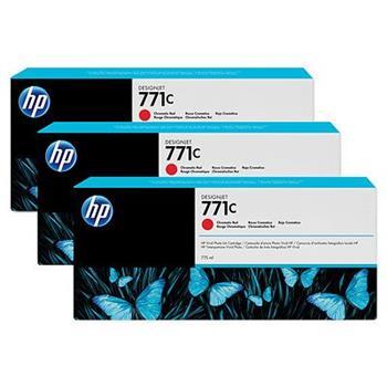 HP B6Y32A, No.771C, originální náplň, chromatic red, 3ks, HP Designjet Z6200