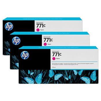 HP B6Y33A, No.771C, originální náplň, magenta, 3ks, HP Designjet Z6200