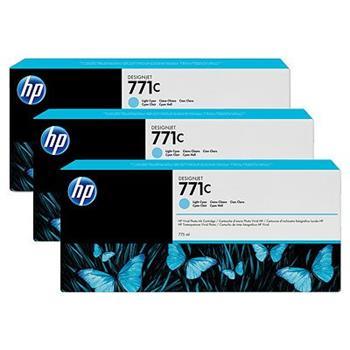 HP B6Y36A, No.771C, originální náplň, light cyan, 3ks, HP Designjet Z6200