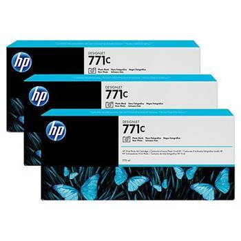 HP B6Y37A, No.771C, originální náplň, photo black, 3ks, HP Designjet Z6200