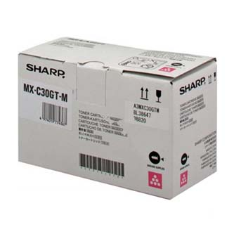 Sharp originální toner MX-C30GTM, magenta, 6000str., Sharp MX-C250FE/C300WE