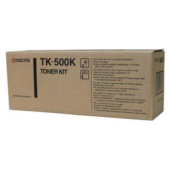 Kyocera Mita originální toner TK500K, black, 8000str., Kyocera Mita FS-C5016N, garanční pečeť Janus