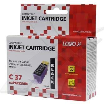 Canon PGI-520BK - kompatibilní černý inkoust (Logo), 20ml, pro Canon iP3600, 4600, MP620, 630, 980