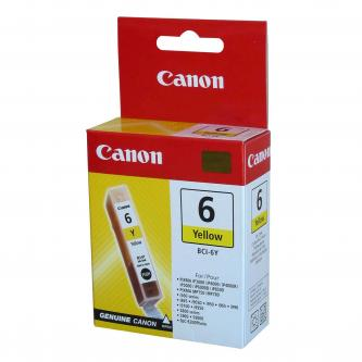 Canon BCI-6Y (BCI6Y), yellow, 13ml, 4708A025, 4708A014, blistr s ochranou, Canon S800, 820, 820D, 83