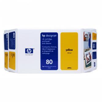 HP originální tisková hlava C4893A, No.80, yellow, HP DesignJet 1050, C, 1055, C, CM