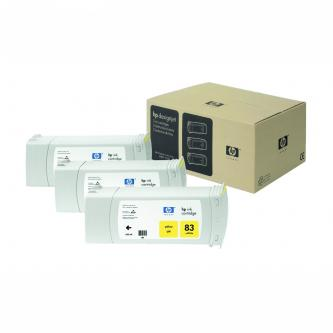 HP No. 83 UV 3-Ink Multipack, Yellow, 680 ml, C5075A