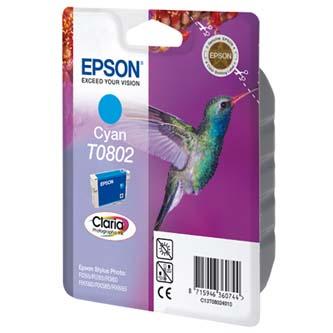 Epson C13T08024021, cyan, 7,4ml, blistr s ochranou, Epson Stylus Photo PX700W, 800FW, R265, 285, 360, RX560