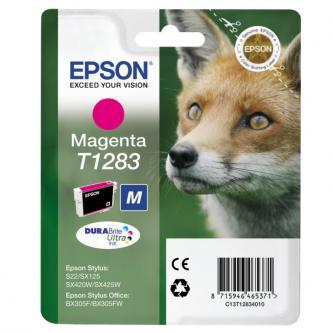 Epson C13T12834021, T1283, magenta, 3,5ml, blistr, Epson Stylus S22, SX125, 420W, 425W, Stylus Offic