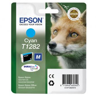 Epson C13T12824021, T1282, cyan, 3,5ml, blistr, Epson Stylus S22, SX125, 420W, 425W, Stylus Office B