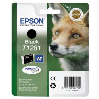 Epson C13T12814021, T1281, black, 5,9ml, Epson Stylus S22, SX125, 420W, 425W, Stylus Office BX305