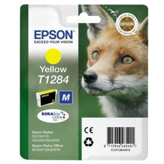 Epson C13T12844011, T1284, yellow, 3,5ml, Epson Stylus S22, SX125, 420W, 425W, Stylus Office BX305