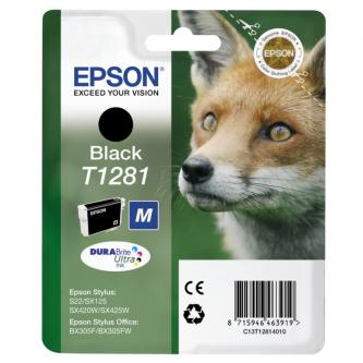 Epson C13T12814011, T1281, black, 5,9ml, Epson Stylus S22, SX125, 420W, 425W, Stylus Office BX305