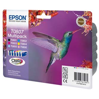 Epson T0807 - originální sada inkoustů CMYK/light C/light M, Epson Stylus Photo PX700W