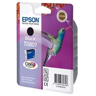 Epson C13T08014021, black, 7,4ml, blistr s ochranou, Epson Stylus Photo PX700W, 800FW, R265, 285, 360, RX560