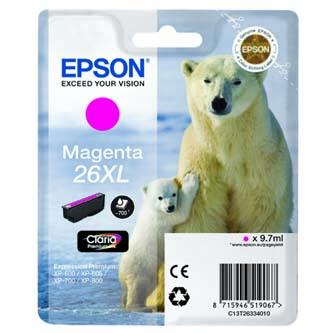 Epson C13T26334010, T263340, XL, magenta, 9,7ml, Epson Expression Premium XP-800, XP-700, XP-600