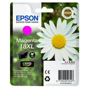 Epson C13T18134010, T181340, XL, magenta, 6,6ml, Epson Expression Home XP-102, XP-402, XP-405, XP-302