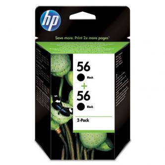 HP C9502AE - originální Ink Cart Black pro DJ 5550, PS 7x50, 2-pack C6656, 2 x 19 ml, C9502AE