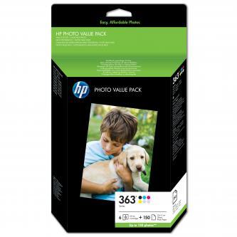 HP Photo Paper Glossy Value Pack 363, 150 ks, 100 x 150 mm, 250 g/m2, Q7966EE