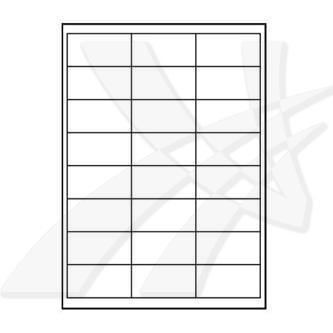 Logo 32214 samolepící matné bílé etikety 66 x 33.8 mm, A4, 140g/m2, baleno po 25 ks, pro inkoustové a laserové tiskárny