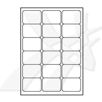Logo 32220 - samolepicí matné bílé etikety 68 x 47 mm, A4, 140g/m2, baleno po 25 ks, pro inkoustové a laserové tiskárny