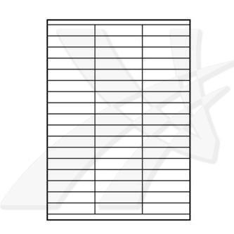 Logo 32221 - samolepící etikety 70 x 16.9 mm, A4, matné, bílé, 140g/m2, baleno po 10 ks, pro inkoustové a laserové tiskárny