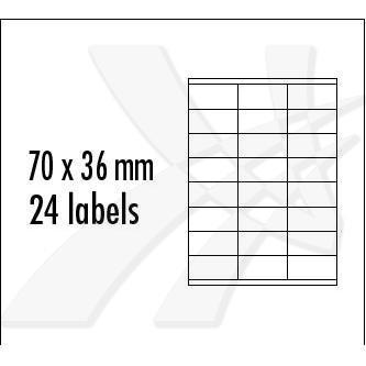 Logo 2520 - samolepící etikety 70 x 36 mm, A4, matné, červené, baleno po 10 ks, pro inkoustové a laserové tiskárny