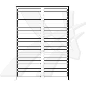 Logo 32227 - etikety 97 x 11 mm, A4, matné, bílé, 50 etiket, 140g/m2, baleno po 10 ks, pro inkoustové a laserové tiskárny