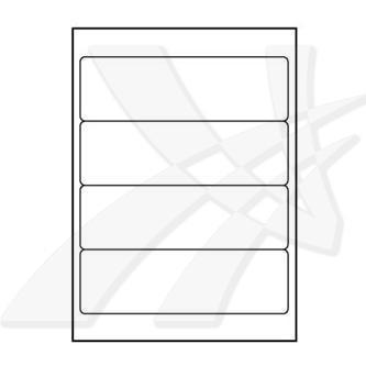 Logo 32242 - samolepící etikety 192 x 61 mm, A4, matné, bílé, 140g/m2, baleno po 25 ks, pro inkoustové a laserové tiskárny